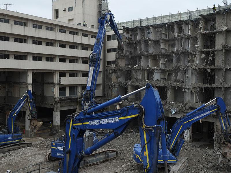 浦安市場 解体工事